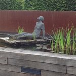 The terrace and gardens behind the Montanus has a lovely water and sculpture feature.