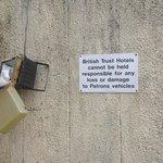 car park warning