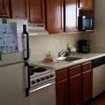 kitchen, cute, and convient, got great use out of it complete with pots, pans and dishes
