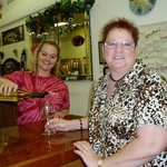 Kathy (sister) being served.  We loved this girl!