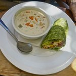 Clam Chowder & Wrap