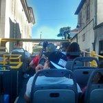 Vista de cima do ônibus