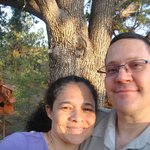 My Wife and I by the Crocodile tree