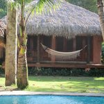Cabana with hammock out front