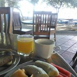 Café da manhã, opção Tropical!!!