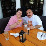 frankie and Maureen at davids rest. Kennebunport