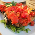 aubergine with tomatoes