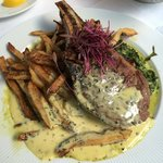 veal chop drowned in Bernaise