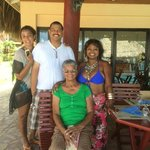 Enjoying a day by the pool w/ family