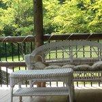 Un moment de détente sur la terrasse