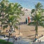 view straight onto Waikiki