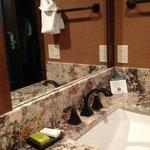 Bath room: Sink area outside bath room