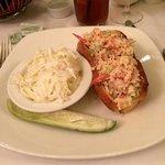 Lobster Roll w/cole slaw. Parker House, Boston, MA.