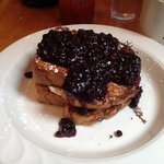 Stuffed French Toast with Blueberry topping