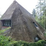 Straw-roof house