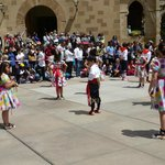 Children performing in the dance competions