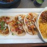 Chicken tacos!  Good!