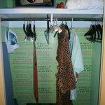 Even the Closet Has Style at Kimpton (& A Safe)