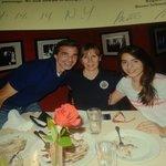 nos regalaron la foto de nuestra cena en Club A