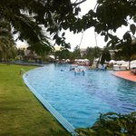 Hotel's grounds swimming pool 220m long.