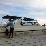Hotel's speed boat