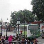 Pakistan tourism bus entering