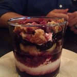 Trifle. Berries, mozzarella something, crumbed biscotti. HEAVEN. Oh and the bread was so fluffy