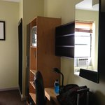 Room 709 - Closet, desk, TV