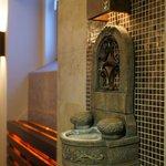 sauna relaxing area
