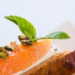 Nougat et melon confit