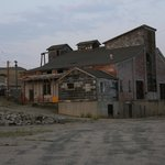Abandoned mining buildings in the heart of Butte