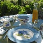 Terras voor ontbijt