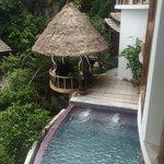 Princess Pool Villa private pool with gazebo day bed