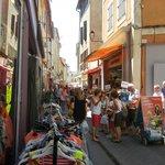 Street during market