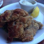 Pan fried oysters