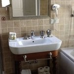 Separate tub and shower, good amenities