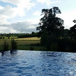 Beautiful outdoor pool overlooking the Cavan countryside.