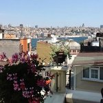 From balcony - view to Golden Horn/Galata area