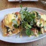 Eggs Benedict for breakfast
