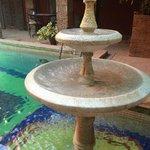 La jolie fontaine très agréable