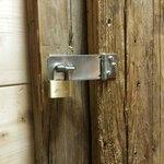 Lock on outside