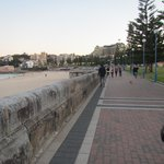 The walkway next to Bondi Beach