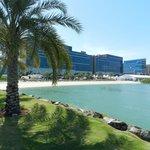Hotel and beach area