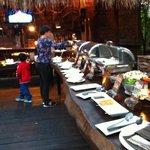 Outdoor BBQ Dinner Buffet