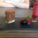 Beautiful chocolate mousse