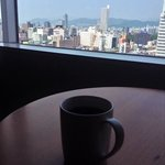 morning coffee and view from 12th floor