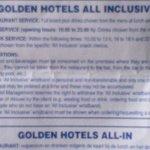 All Inclusive rules