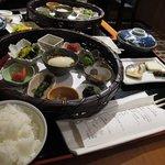 lots of Yamagata savouries at breakfast