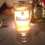 Cerveja alemã Bitburger. Peça a carta de cervejas.