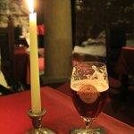 черничное темное пиво